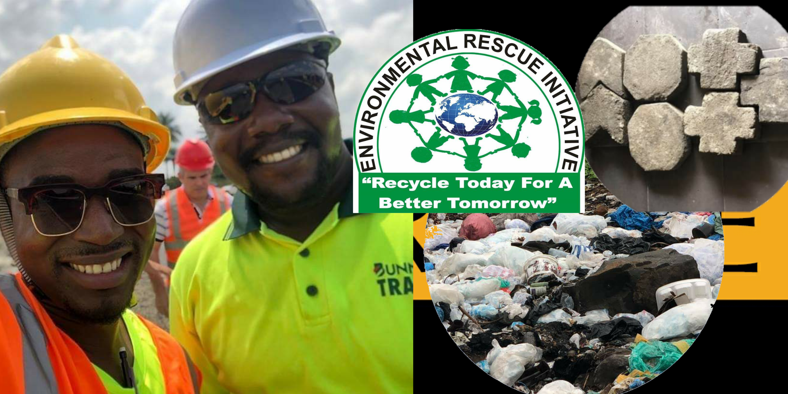 Project of recycling plastic waste into bricks in Liberia